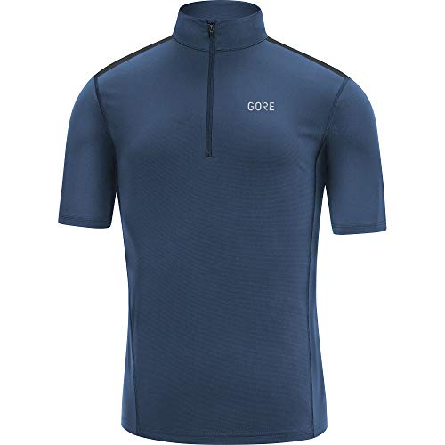 GORE WEAR Herren GORE R5 Zip Shirt deep water blue, M -