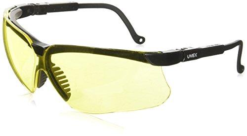 Uvex S3202Genesis lavoro, ambra ultra-dura lenti occhiali di sicurezza, colore: nero