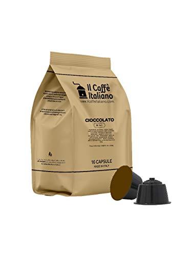 FRHOME - 48 Cápsulas compatibles Nescafé Dolce Gusto - Chocolate - Il Caffè Italiano