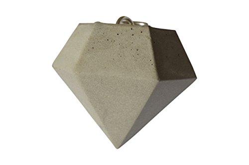 maison-dargent-ciondolo-in-calcestruzzo-a-forma-di-diamante-colore-argento