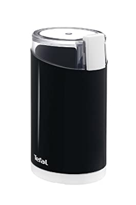 Tefal GT203840 Spice and Coffee Grinder with Twin Cutting Stainless Steel Blades, 75 g Capacity, Black by Tefal