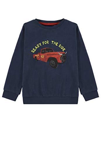 TOM TAILOR Kids Jungen Placed Print Sweatshirt, Blau (Dress Blue 3043), 104 (Herstellergröße: 104/110) -