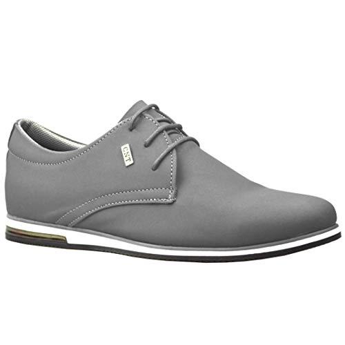 ClassyDude décontractée para Hombre de Ante Smart Formelle–Zapatos con Cordones, Gris (Gris), 42.5 EU