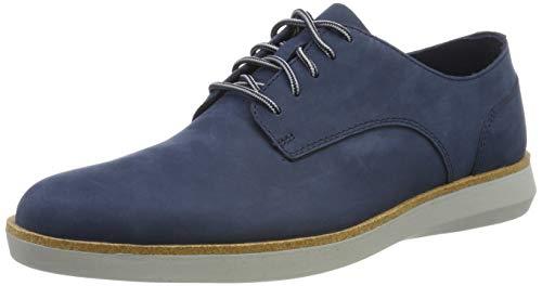 Clarks Herren Fairford Run Sneaker, Blau Navy Nubuck, 43 EU (Clarks Schuhe Navy)