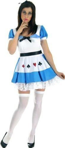 Alice Kostüm (Blau/Weiß)