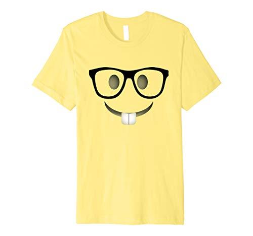 Nerd Emoji-Halloween-Kostüm Shirt Erwachsene Gruppe - Nerd Halloween Kostüm