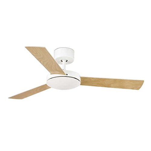 Faro Barcelona Mallorca 33603–Ceiling Fan Without Light, Metal and MDF Blades Reversible White/Maple, White
