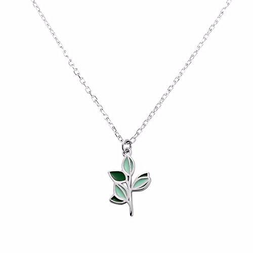 Hongrun 925 temperament Halskette Mädchen, kleiner Baum Bäume auf der koreanischen Version der einfachen Summe der schlüsselbein Kette arts frische kleine Studenten (Halskette Baum Kleine Mädchen)