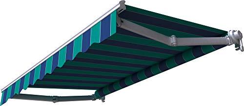 Broxsun Gelenkarmmarkise Mauritius | Breite 1.9 bis 5m | 120 Stoffe Farben | Auslage bis 3.1m. manuell oder elektrisch | wetterfeste Markise mit Motor Sonnenschutz Terrasse beschattung
