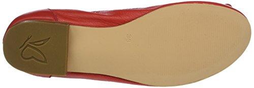Caprice 22103, Ballerines Femme Rouge (Red)