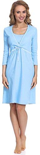 Italian Fashion IF Camicie da Notte per Allattamento Dolores 01111 (Blu, M)