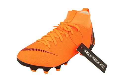 NIKE Unisex-Kinder Mercurial Superfly VI Academy MG Fußballschuhe, Orange/Schwarz, 36.5 EU