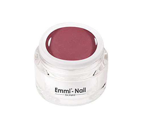 Emmi-Nail Farbgel Nude Rouge: UV-Gel für glänzendes Finish, hohe Deckkraft, lila-grau, mittelviskos, kein Verlaufen in die Nagelränder, 5 ()