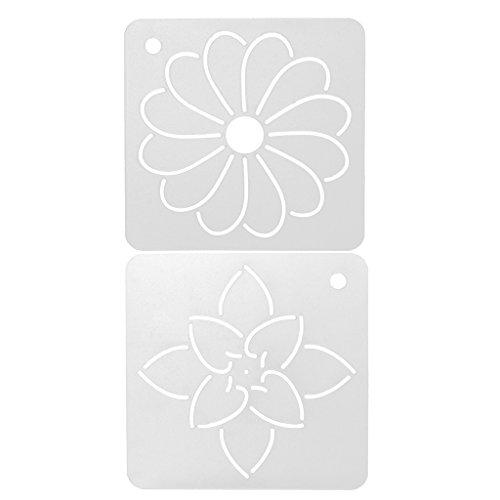 Gazechimp Kunststoff Schablonen Set Malerei Schablonen Skala DIY Blumen Zeichenschablonen (Stoff Quilten Malerei)