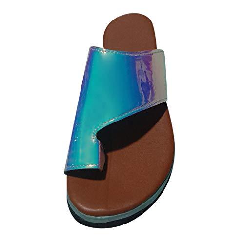 Sandalen für Frauen Open Peep Toe Sandalen Sommer Schnalle Keile Sandalen Plateauschuhe Mode Damen High Heels PU Gladiator Geeignet für Daumen Aligner 2019 Markthym - Hi Heel Open-toe