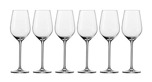 Schott Zwiesel Fortissimo 6-teiliges Set Weißweinglas, Glas, transparent, 26.5 x 18.4 x 2