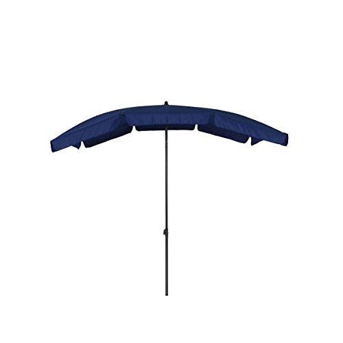 greemotion Sonnenschirm mit UV-Schutz - Balkonschirm in Blau-Grau - Gartenschirm knickbar -...
