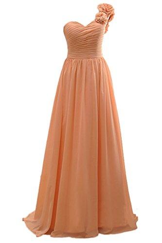 Sunvary realizzata a mano fiori One spalla per abito da sera Prom ballo abito da donna Arancione