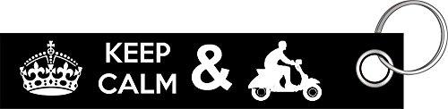 Shirtzshop Keep Calm Scooter I Roller Motorroller Schlüsselanhänger Schlüsselband Keyholder Lanyard