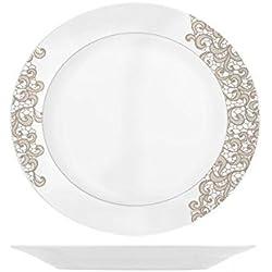 Home - Ala - Vajilla de 18 piezas, en porcelana, color blanco