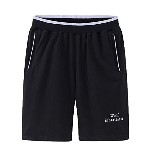 VPASS Pantalones Hombre,Verano Casual Moda Pantalones Tallas Grandes Deportivos Color sólido Suelto...
