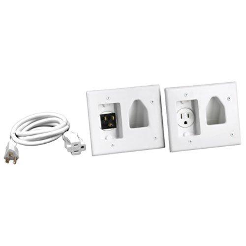 Montiert-tv (RCA dh150F RCA Unterputzkabel Power installieren und Kordel Management Kit für Wand montiert Flat Panel TVS, weiß)