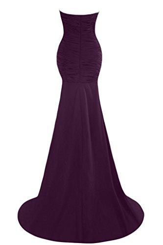 ivyd ressing Femme Mermaid application Cœur de la découpe fente Lave-vaisselle robe Prom robe robe du soir - Traube