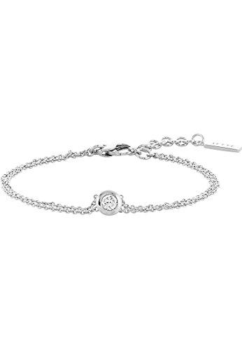 JETTE Silver Damen-Armband 925er Silber 1 Zirkonia silber, One Size