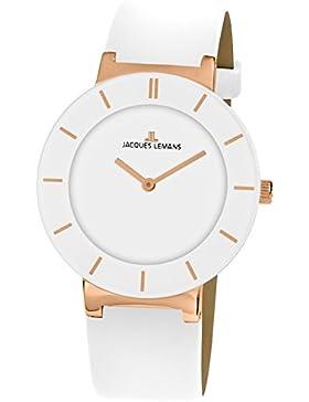 Jacques Lemans Damen-Armbanduhr Monaco Analog Quarz Leder 1-1867D