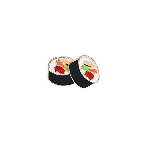 Cartoon Sushi Lebensmittel Abzeichen Brosche Kragen Pins Schmuck Zubehör Emaille Broschen Geschenk für Männer Frauen Mädchen Junge, Stil 2 nützlich und praktisch