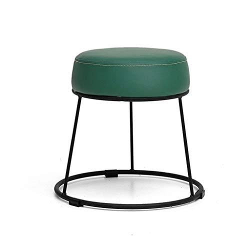 LGQ-LIFE Osmanischer Gepolsterter Fußschemel-Make-up-Hocker , Runder Fußschemel-Ersatz-Schuhhocker, PU-Sitz Geeignet for Wohnzimmer |Korridor, 38,5 X 38,5 X 36 cm (Color : B) -
