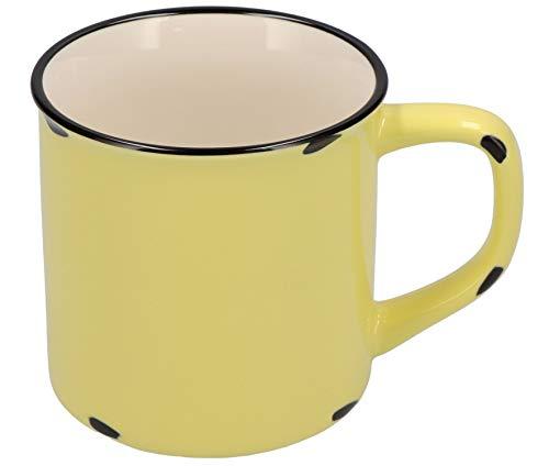 Tony Brown Hartwaren Kaffeebecher klein 300 ml in Emaille-Optik (1er, Gelb)