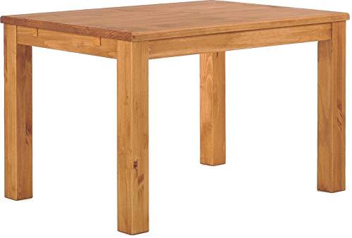 Brasilmöbel Esstisch Rio Classico 120x73 cm Honig Massivholz Pinie Holz Esszimmertisch Echtholz Größe und Farbe wählbar ausziehbar vorgerichtet für Ansteckplatten