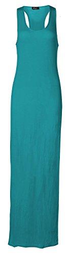 Fast Fashion - Robe Maxi Racer Des Muscles Du Dos Sans Manches - Femmes Turquoise