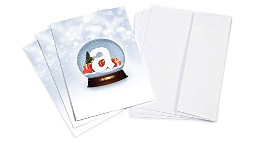 Amazon.de Grußkarte mit Geschenkgutschein - 3 Karten zu je 15 EUR (Schneekugel) (Schneekugel österreich)