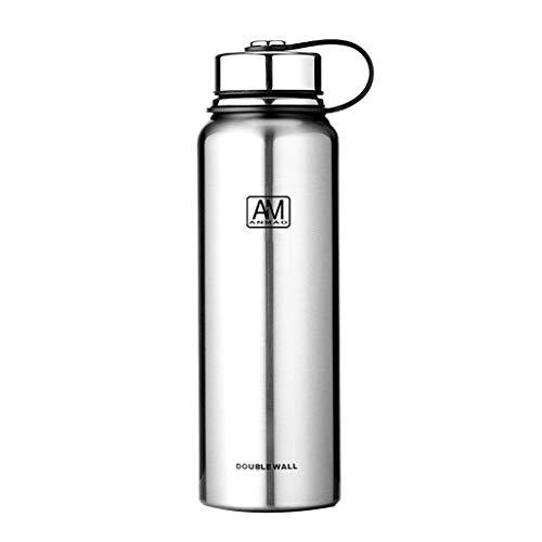 Llwei 610 ml / 800 ml / 1100 ml / 1500 ml Doppelschichtiger Edelstahl-Isolierbecher Warm Cold Coffee Water Tragbarer Trinkbecher Flasche Sportflasche