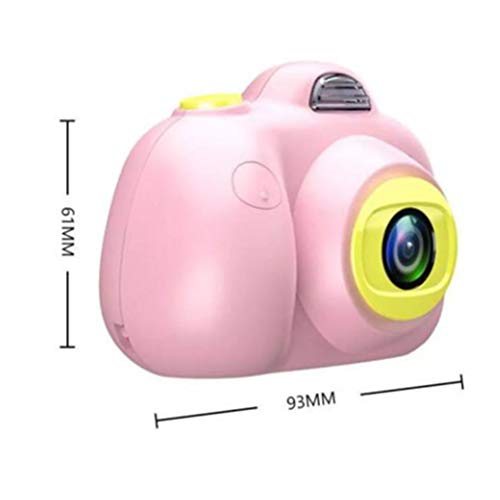LaDicha Kinder Camera Hd Digital 800P Tf Card Camcorder USB Wiederaufladbare Frühe Bildung Puzzle Novelties Spielzeug - Rosa