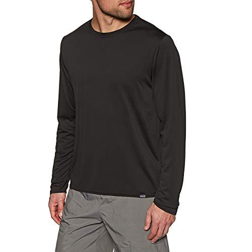Capilene Shirt Für Herren (Patagonia Herren M's L/S Cap Cool Daily Shirt Hemd, schwarz, XL)