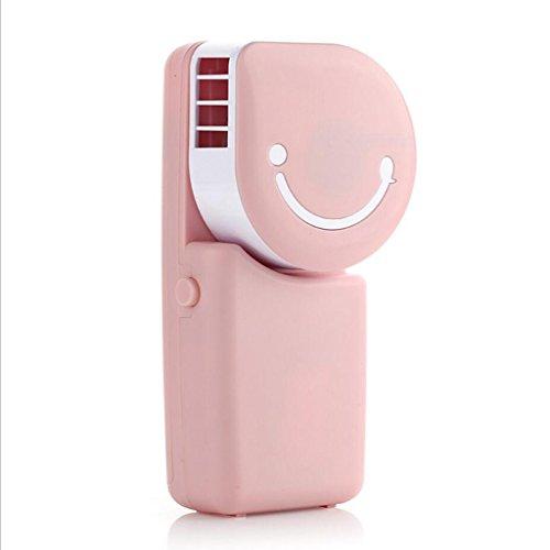 Miaoge Hand Mini Lüfter Handheld- Laden Klimaanlage Lächeln Lüfter USB carry kein Blatt kleiner Ventilator 8*5.3*17cm