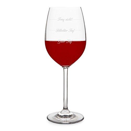 KIXY Leonardo Rotweinglas - Guter Tag! Schlechter Tag! Frag nicht! - Weinglas