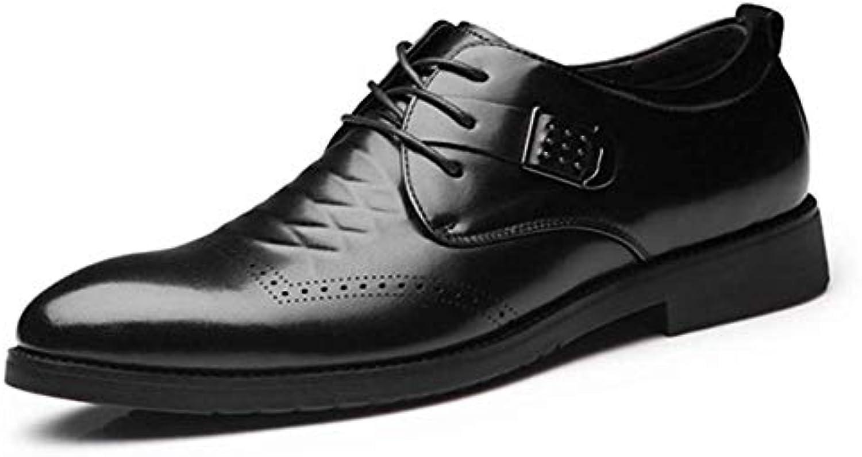 FuweiEncore Business scarpe scarpe scarpe Men Dress, Spring Autumn Leather Lace up Matrimonio Moda Ufficio Scarpe Piatte Casual...   Design ricco  a76202