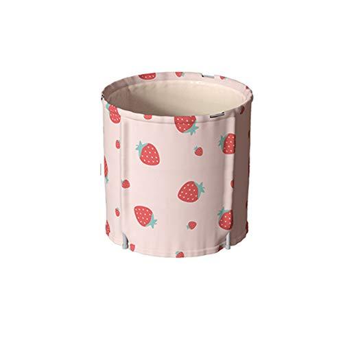 ZQ Faltende SPA-Badewanne für Erwachsene, Tragbare rechteckige Kunststoffbadewanne, Badewanne für Benutzer, Hochwertige Wanne mit Ablaufgarnitur, Kinder-Rutschfester Swimmingpool-Light pink