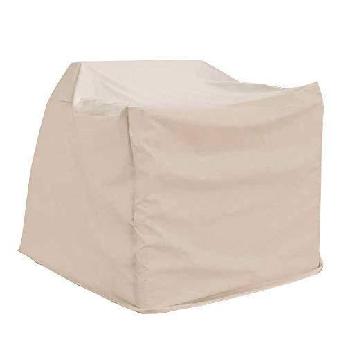 YANGJUN-abdeckung gartenmöbel Draussen Wasserdichte Frostschutz-Möbelvorrichtung Staubdichte Abdeckung, 2 Größen 2 Farben Anpassbar (Farbe : Beige, größe : A-110x110x70cm)
