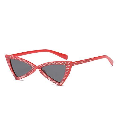 Wenkang Mode kleine cat Eye Sonnenbrille Frauen kristall Diamant dreieck Sonnenbrille Vintage Butterfly Sonnenbrille Shades Brillen,2