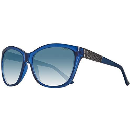 Guess Damen GU7417-6090X Sonnenbrille, Blau (Blue), 60