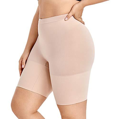 DELIMIRA Donna Guaina Modellante Cosce Pantaloncino Contenitiva Snellente Taglie Forti Beige 50/52