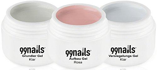 99Nails arco Gel de color rosa, 3Pack (3x 30ml)
