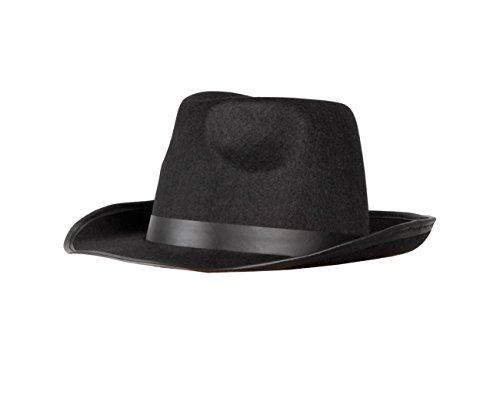 Boland 04000 - Erwachsenenhut Mafia, Einheitsgröße, schwarz Gr. 57 cm