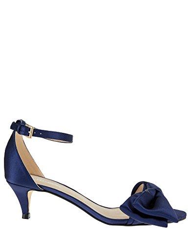 Monsoon Poppy Sandalen mit Kitten-Heel-Absatz und Schleifendetail Marineblau