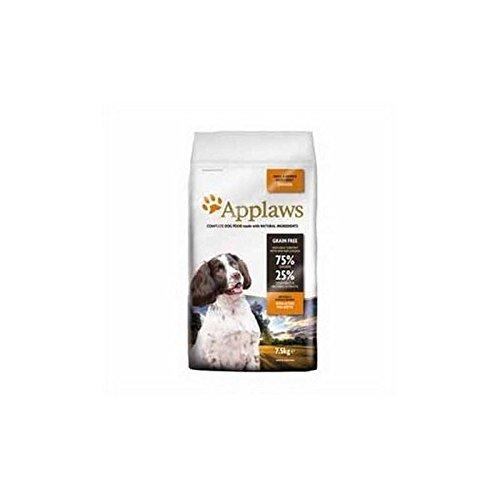 Applaws Katzenstreu Trockenfutter für Hunde klein und Medium Breed Adult Huhn (7,5kg (6Stück)